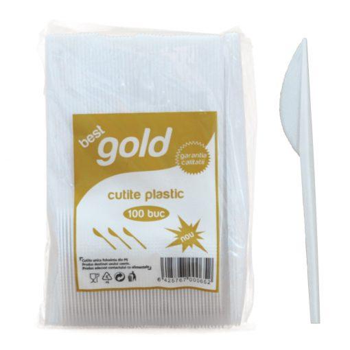 Cutite Din Plastic Gold 100 Buc/Set 2021 sanito.ro