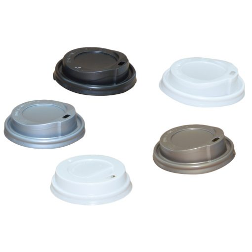 Capac Din Plastic 8 Oz / 12 Oz Pentru Bauturi Calde 100 Buc/Set sanito.ro