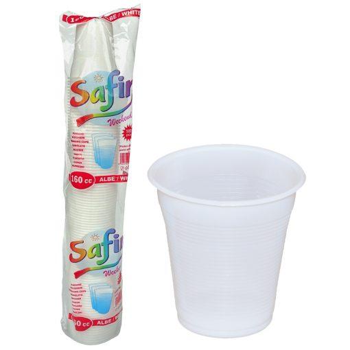 Pahare Plastic 160 Cc 100 Buc/Set 2021 sanito.ro