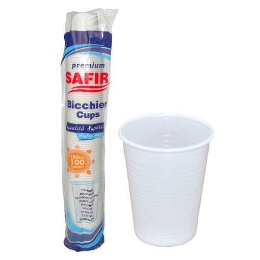 Pahare Plastic 160 Cc Premium 100 Buc/Set sanito.ro