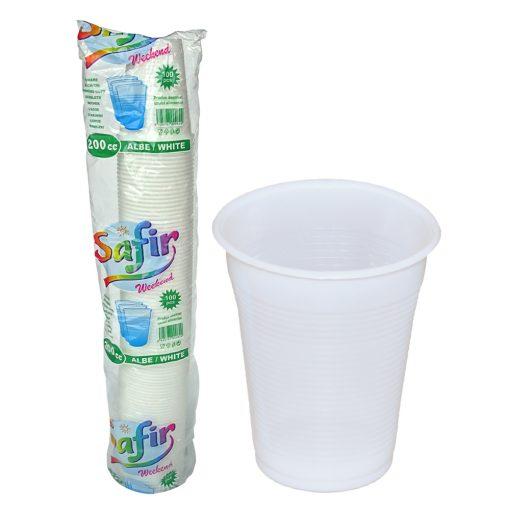 Pahare Plastic 200 Cc 100 Buc sanito.ro