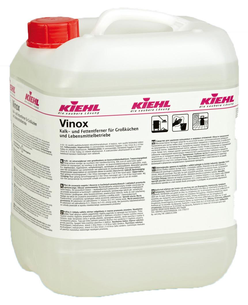 Vinox Eco - Detergent Pentru Curatare Suprafete Din Inox 10 L Kiehl sanito.ro