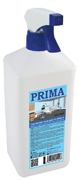 Dezinfectant rapid pentru suprafete spray 1L PRIMA imagine sanito.ro