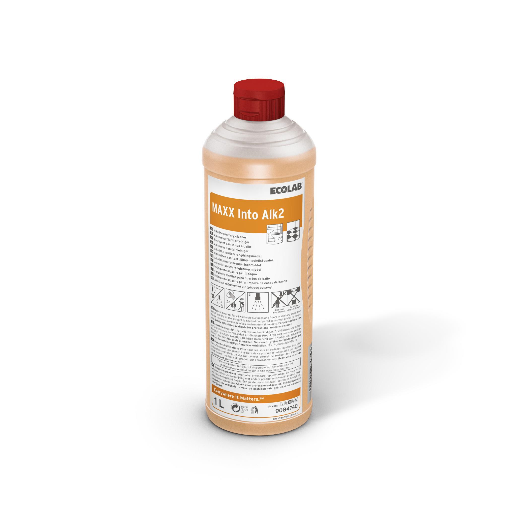 Detergent Sanitar Alcalin Maxx2 Into Alk 1l Ecolab 2021 sanito.ro
