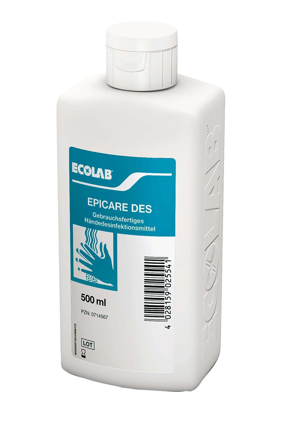 Aviz Biocid - Dezinfectant Pentru Maini Epicare Des 500ml Ecolab sanito.ro