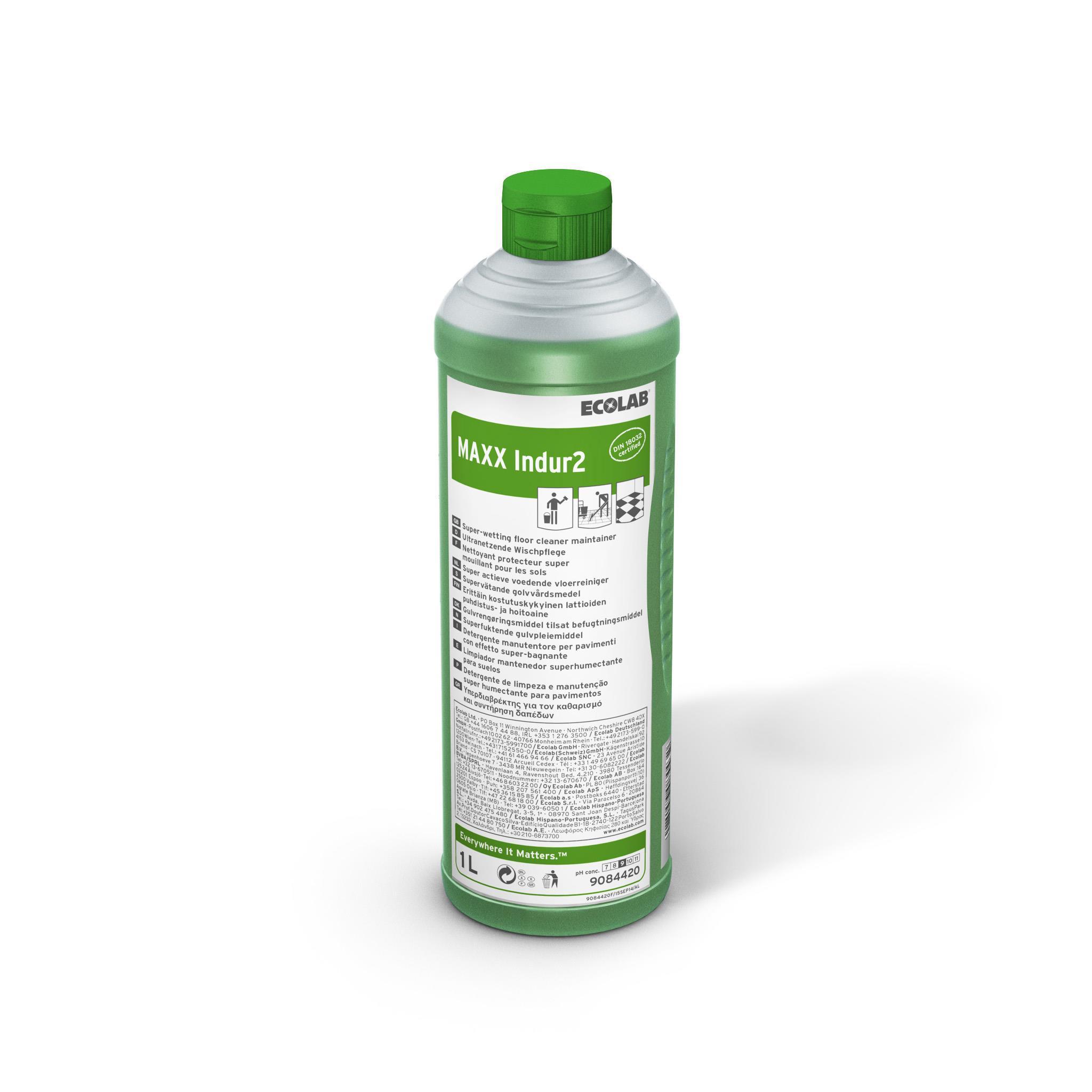 Detergent Superumectant Manual Pentru Curatarea Pardoselilor Maxx2 Indur 1l Ecolab 2021 sanito.ro