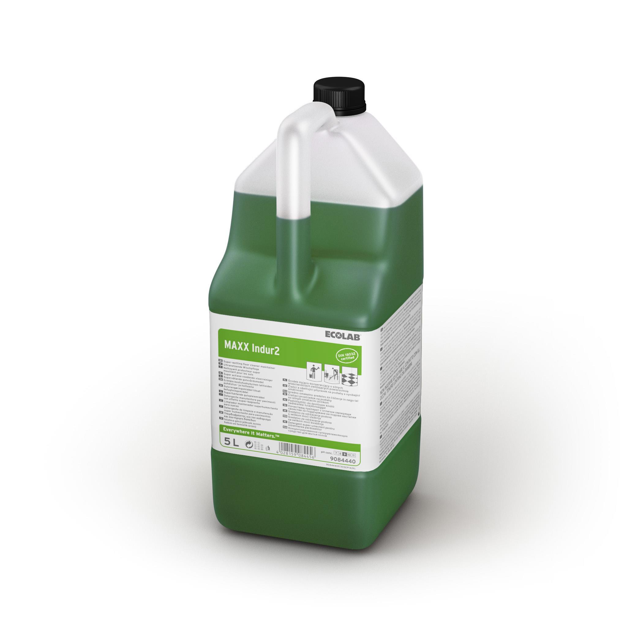 Detergent Superumectant Manual Pentru Curatarea Pardoselilor Maxx2 Indur 5l Ecolab sanito.ro
