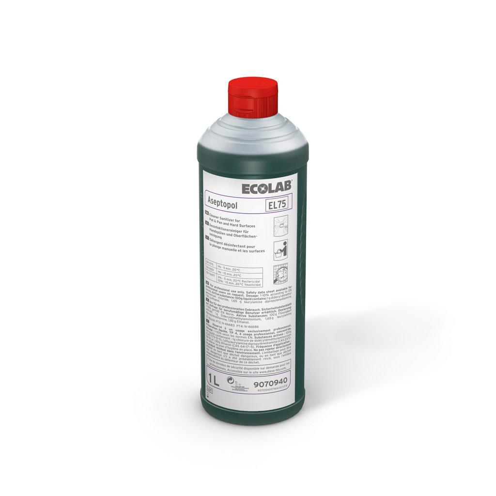 Detergent Dezinfectant Aseptopol El 75 1l Ecolab 2021 sanito.ro