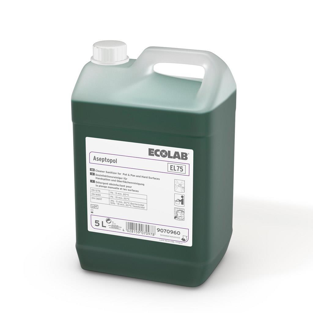 Detergent Dezinfectant Aseptopol El 75 5l Ecolab 2021 sanito.ro