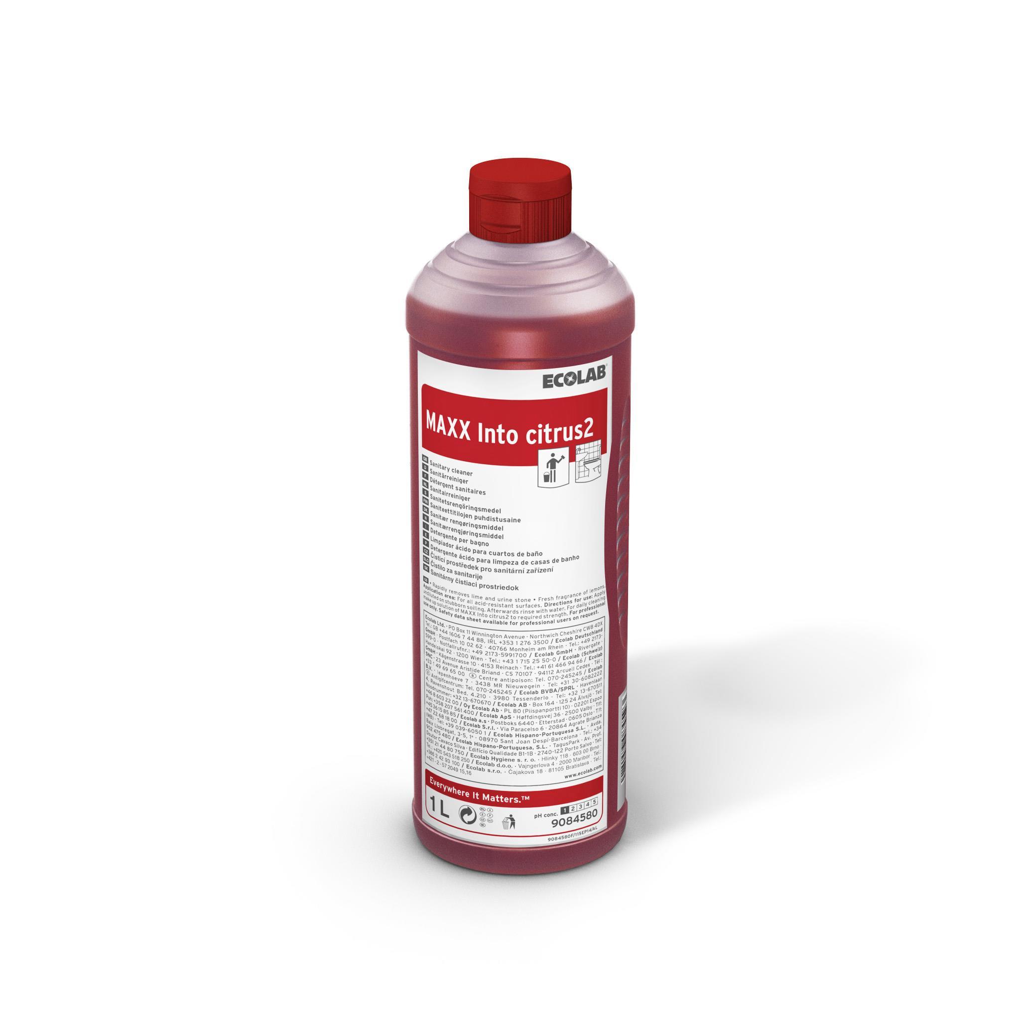 Detergent Sanitar Cu Parfum De Citrice Maxx2 Into Citrus 1l Ecolab sanito.ro