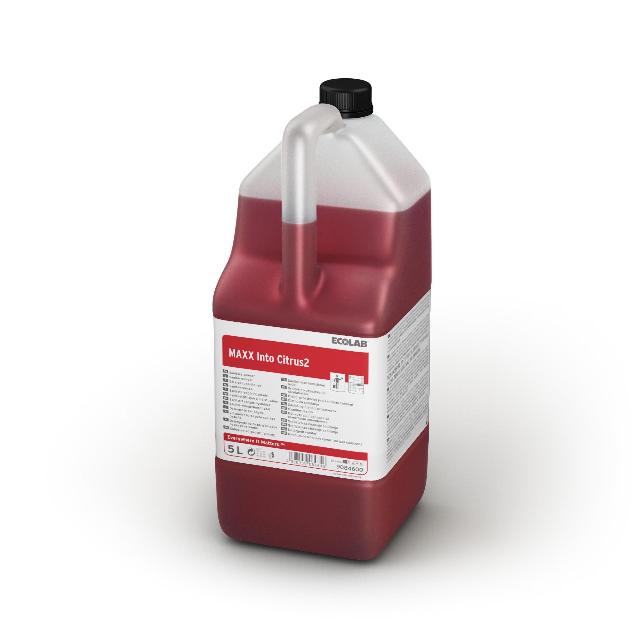 Detergent Sanitar Cu Parfum De Citrice Maxx2 Into Citrus 5l Ecolab sanito.ro