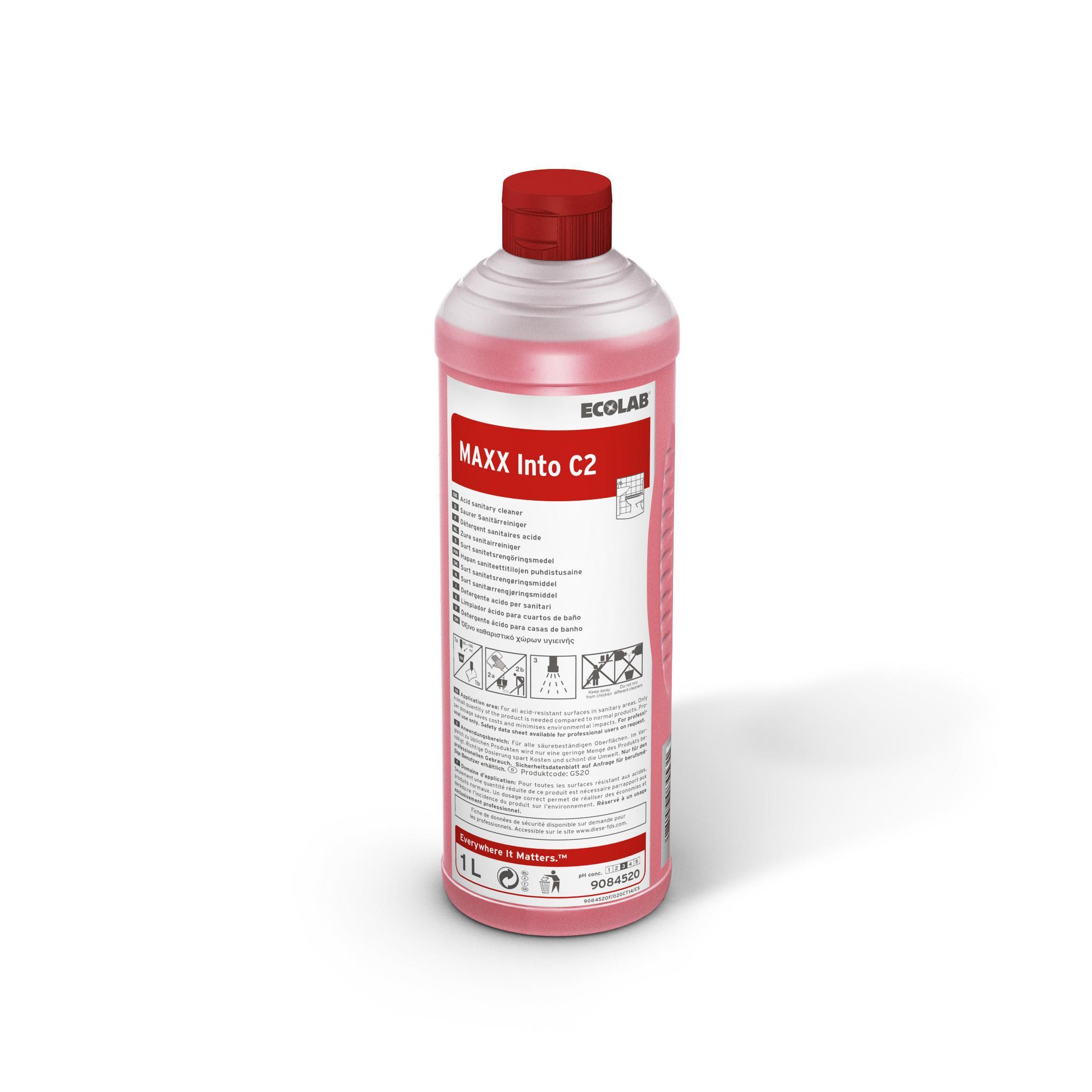 Detergent Sanitar Pentru Curatarea Zilnica Maxx2 Into C 1l Ecolab - Ecologic sanito.ro