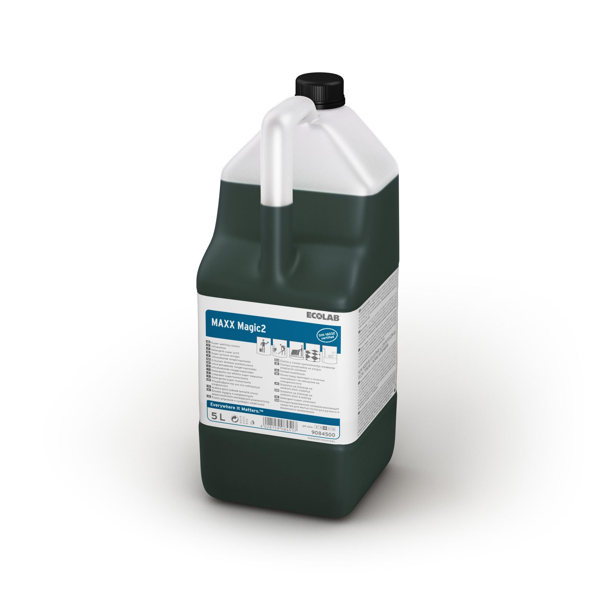 Detergent Superumectant Universal Manual/Automat De Inalta Performanta Maxx2 Magic 5l Ecolab sanito.ro