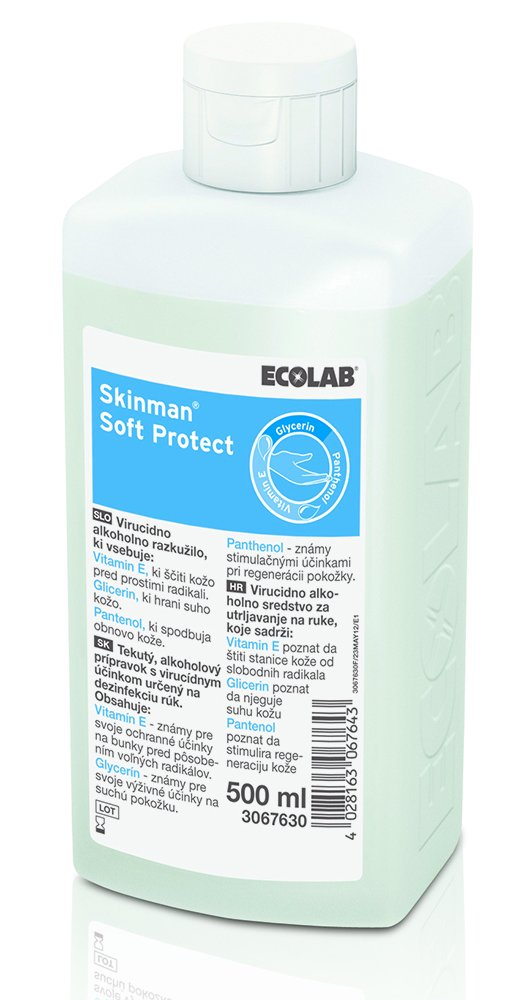 Aviz Biocid - Dezinfectant Maini Ecolab Skinman Soft Protect 500ml sanito.ro