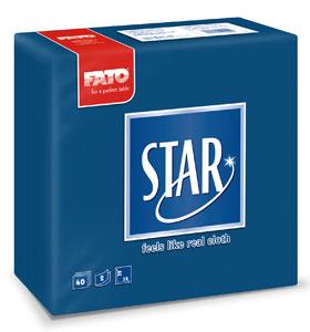 Servetele 38x38 Cm 2 Straturi Embosate Star Midnight Blue Fato sanito.ro