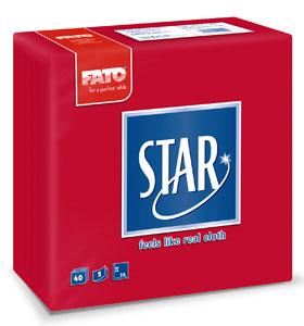 Servetele 38x38 Cm 2 Straturi Embosate Star Red Fato sanito.ro