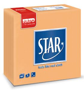 Servetele 38x38 Cm 2 Straturi Embosate Star Peach Fato sanito.ro