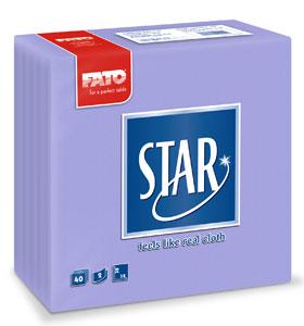 Servetele 38x38 Cm 2 Straturi Embosate Star Lilac Fato sanito.ro