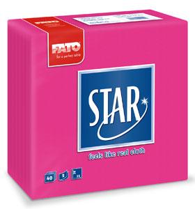 Servetele 38x38 Cm 2 Straturi Embosate Star Fuchsia Fato sanito.ro