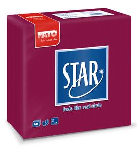 Servetele 38x38 Cm 2 Straturi Embosate Star Bordeaux Fato sanito.ro