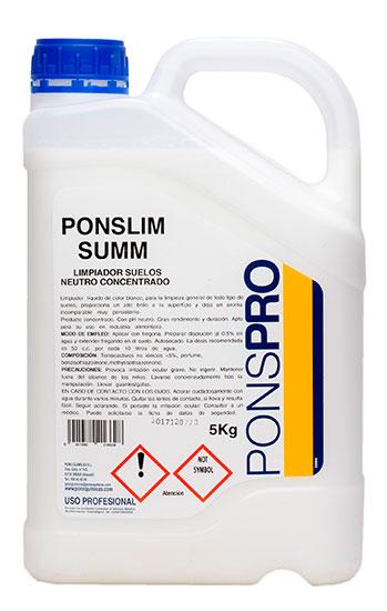 Detergent Concentrat Manual Pardoseli 5l Asevi Ponslim-Summ 2021 sanito.ro