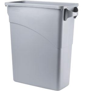 Container Slim Jim Cu Manere 60 L Gri Deschis Rubbermaid sanito.ro