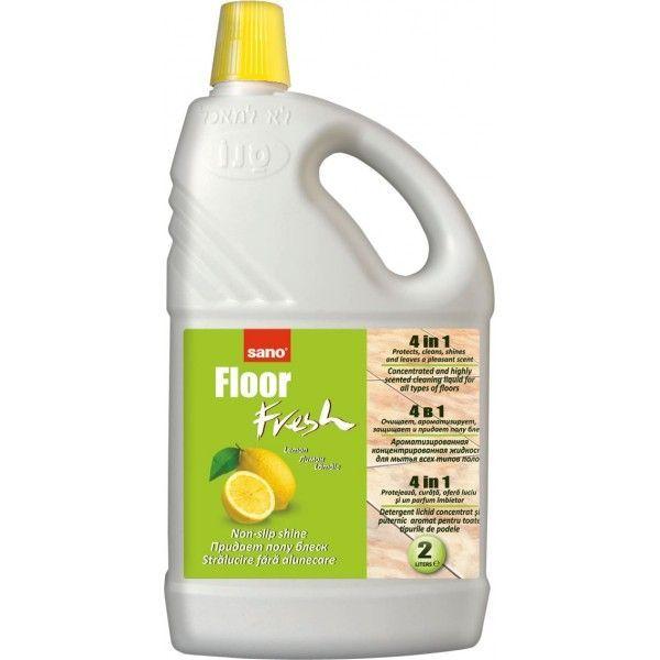 Sano Floor Fresh Lemon Manual 2l Detergent Pardoseala 2021 sanito.ro