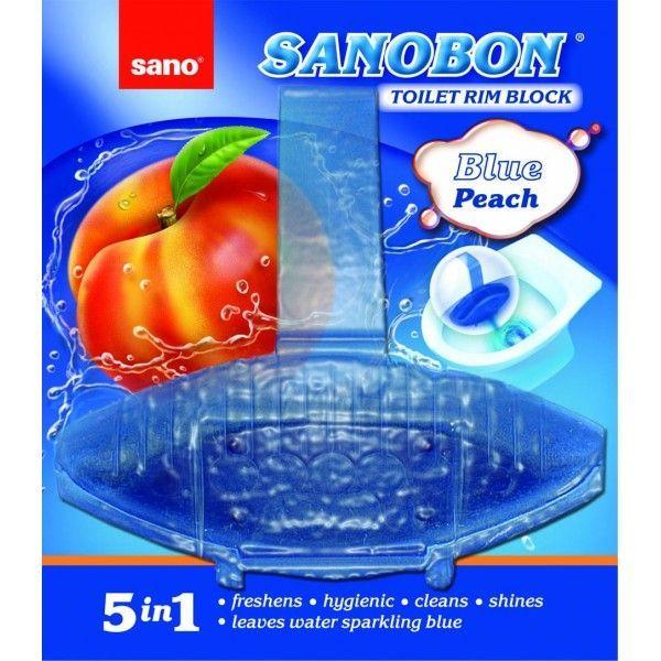Sano Bon Blue Peach 5in1 55g Odorizant Vas Toaleta sanito.ro
