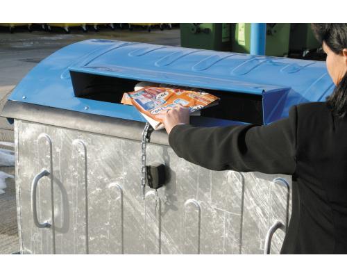 Eurocontainer Zincat 1100 L - Capac Albastru Colectare Hartie 2021 sanito.ro