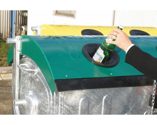 Eurocontainer Zincat 1100 L - Capac Verde Colectare Sticla sanito.ro