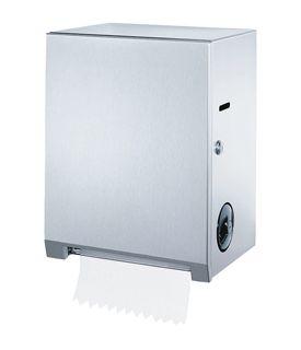 Dispenser Rulou Prosop Autocut Actionare Manuala-Mecanica Inox Seria Clasic Bobrick sanito.ro