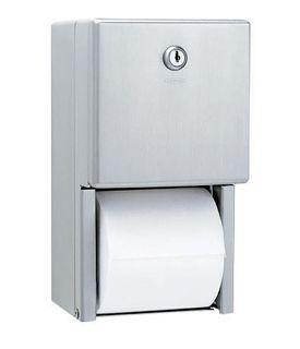 Dispenser Hartie Igienica Pentru 2 Role Normale Suprapuse Seria Clasic Bobrick 2021 sanito.ro