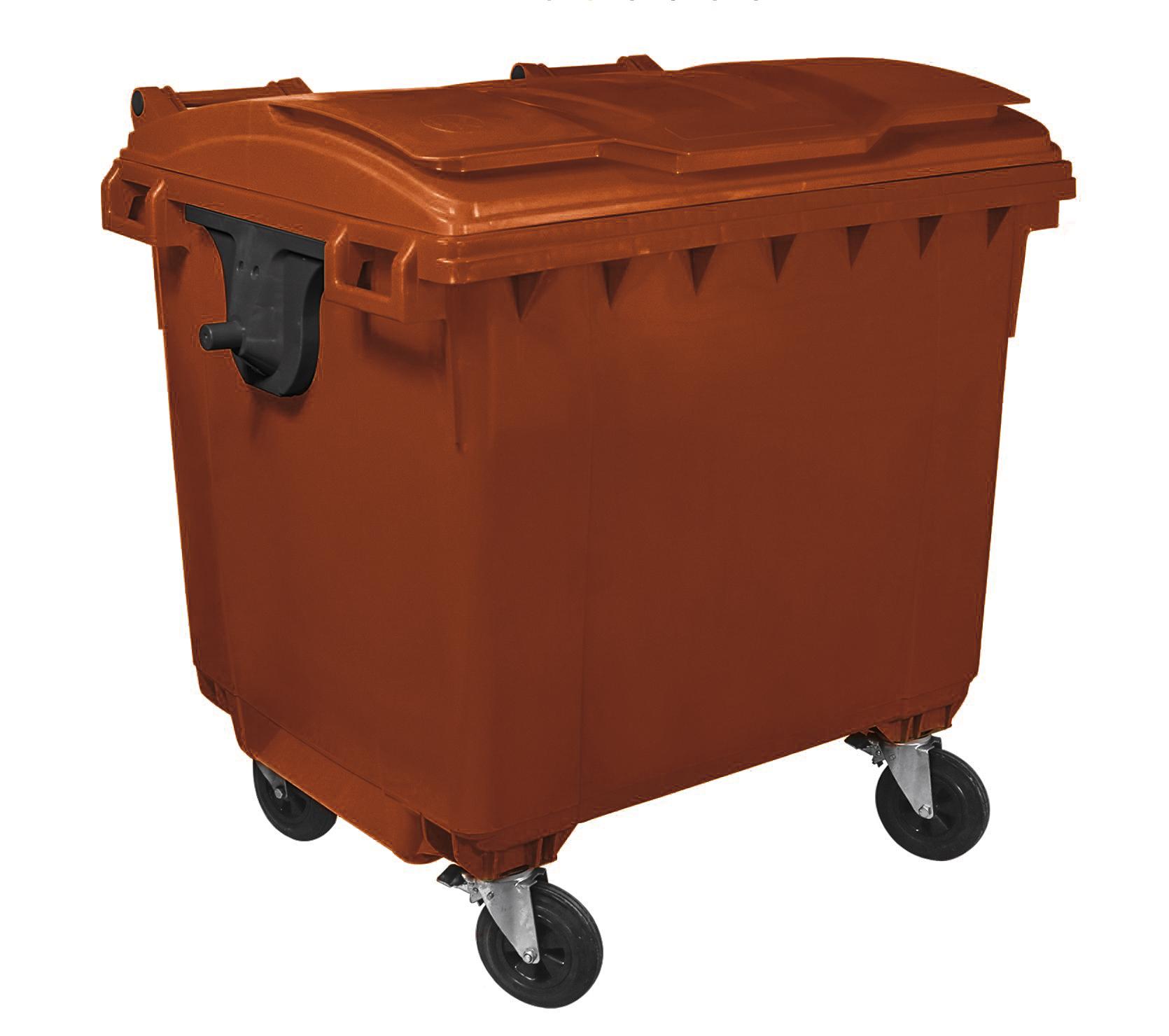 Container Hdpe Clf 1100l Cu Capac Plat Maro 2021 sanito.ro