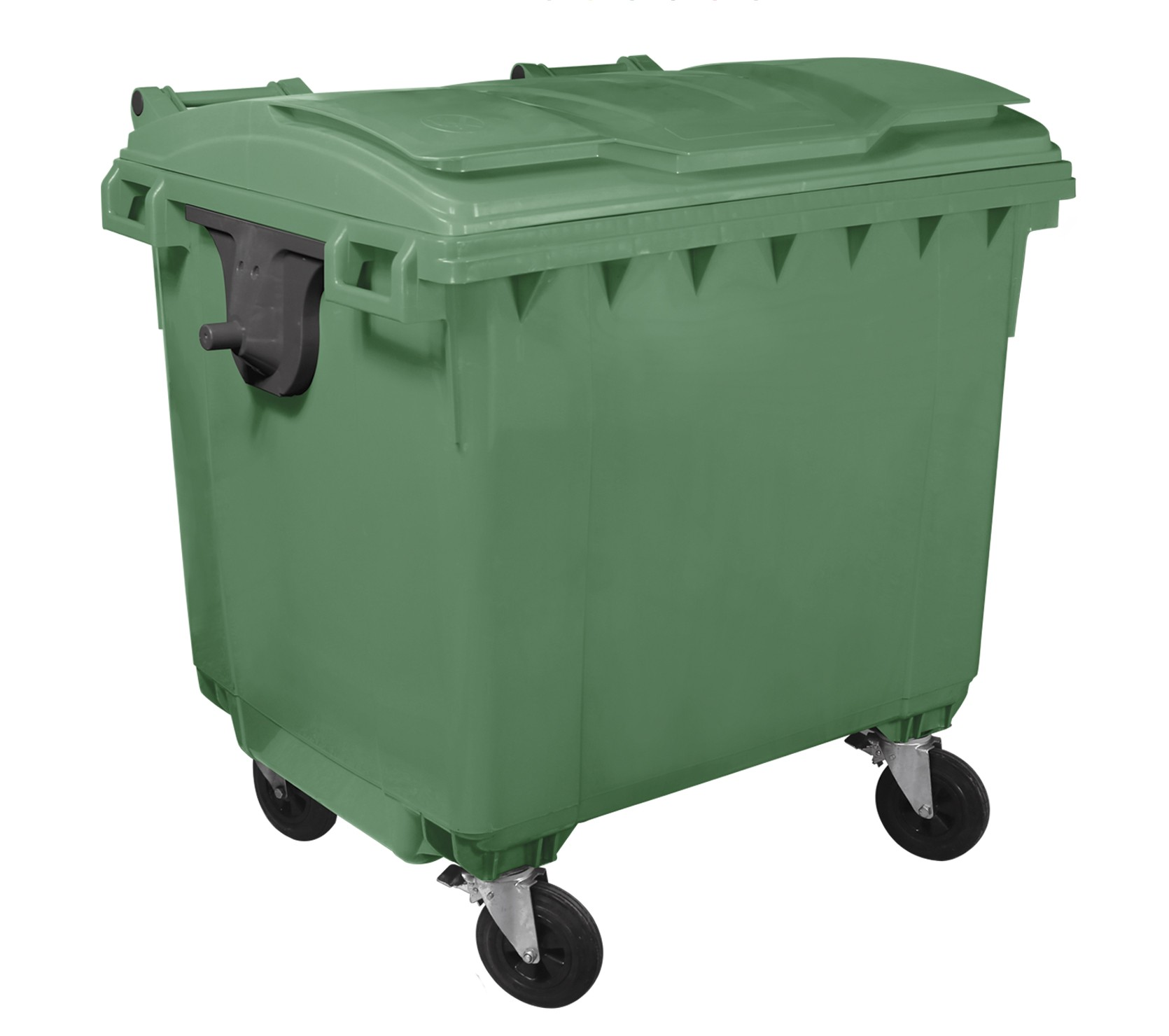 Container Hdpe Clf 1100l Cu Capac Plat Verde sanito.ro