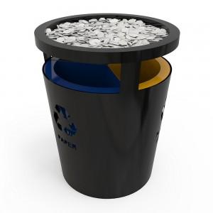 Geneve Sm Cos De Reciclare Cu Design Elegant Din Metal Cu Pietre Decorative sanito.ro