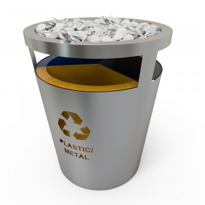 Geneve Ss Set De Reciclare Cu Look Modern Din Otel Inoxidabil Si Pietre Decorative sanito.ro