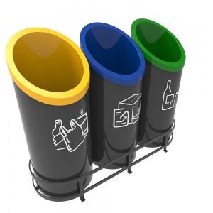 Gothenburg B Cosuri Pentru Reciclare Cu Design Futurist Pentru Zonele Publice sanito.ro