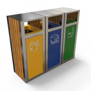 Kuokio As Set Moderna De Reciclare Cu Decor Din Lemn sanito.ro