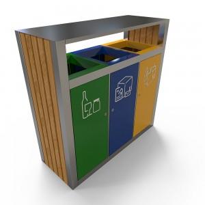 Kuokio Bs Monobloc Pentru Reciclare Selectiva Din Otel Inoxidabil sanito.ro