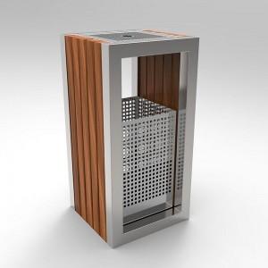 Kuokio C Cos Scrumiera Cu Design Modern Din Otel Inoxidabil Si Lemn 2021 sanito.ro
