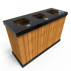 Oslo Mw Cosuri Din Metal Pentru Reciclare Exterioare Cu Mai Multe Compartimente sanito.ro