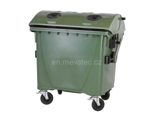Eurocontainer Din Material Plastic 1100 L Cu Capac Rotund Culoare Verde Cu Inchizatoare Pentru Capac - Colectare Sticla Mevatec - Transport Inclus 2021 sanito.ro