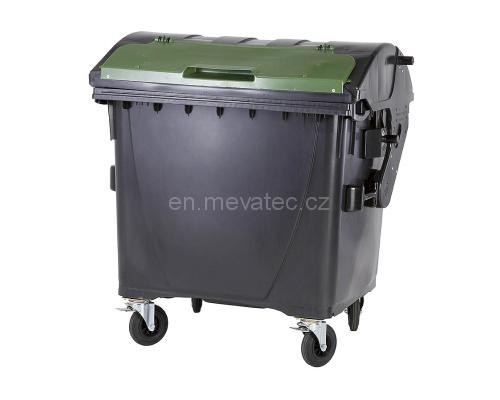 Eurocontainer Din Material Plastic 1100 L Negru Capac In Capac Verde Mevatec - Transport Inclus 2021 sanito.ro