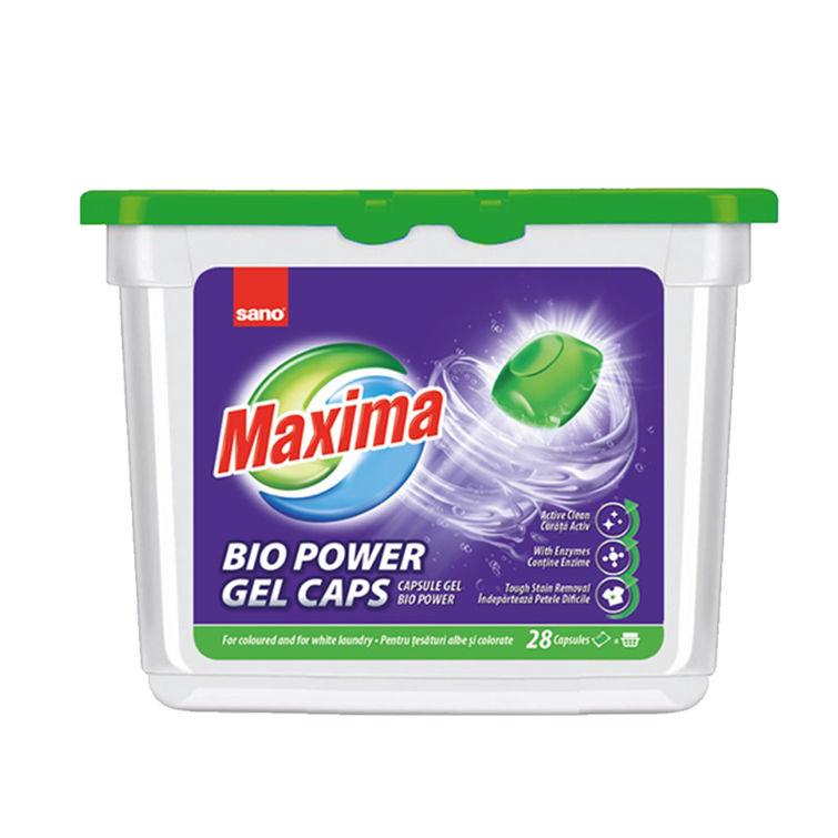 Detergent De Rufe Capsule Sano Maxima Gel Bio (28Buc) sanito.ro