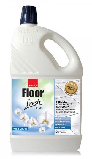 Detergent Pardoseli Concentrat Sano Floor Fresh Home White Orchid 2l 2021 sanito.ro