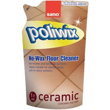 Detergent Pardoseli Delicate Sano Poliwix Ceramic Rezerva Economica 750ml 2021 sanito.ro