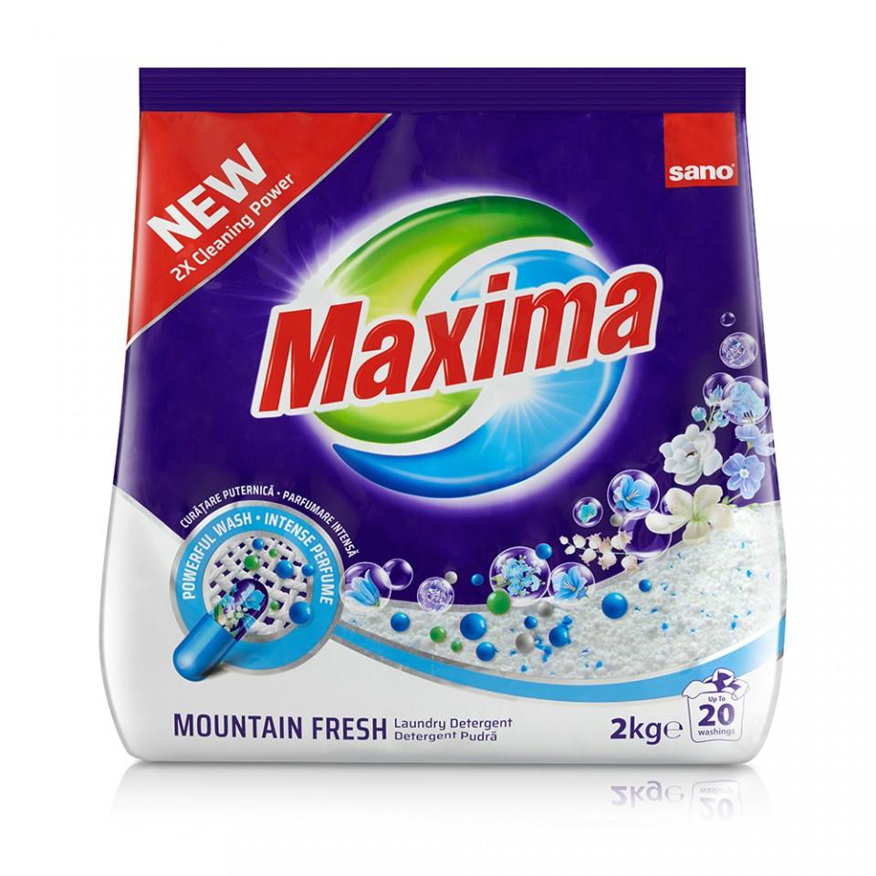Detergent Pudra Sano Maxima Mountain Fresh (20sp) 2kg sanito.ro