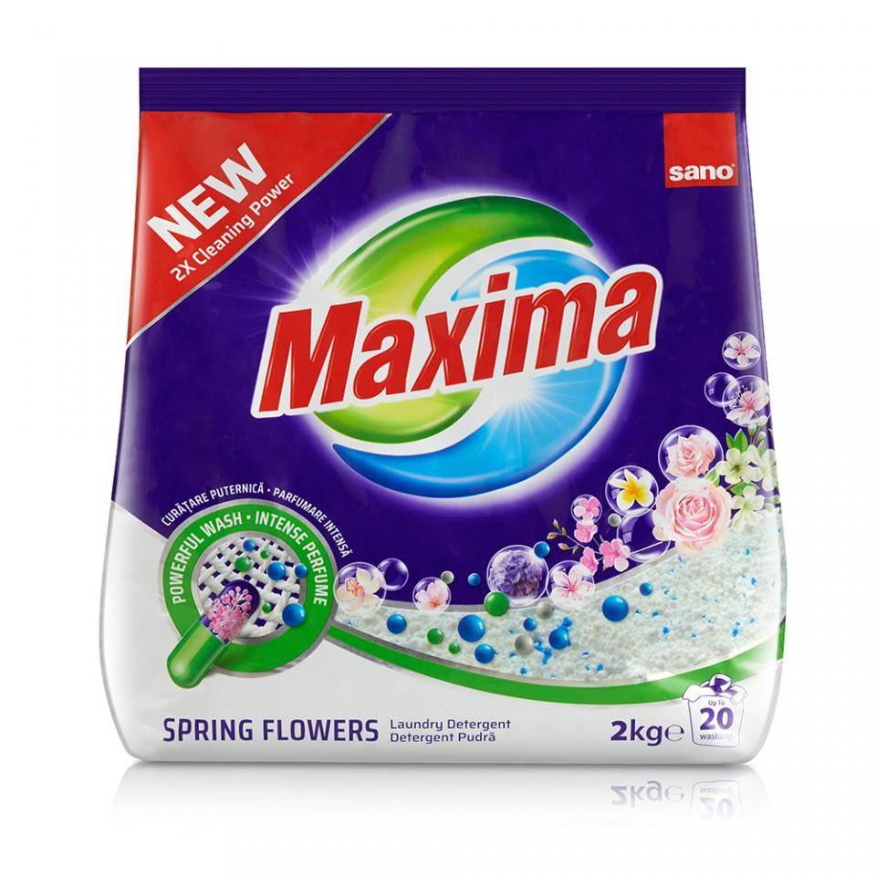 Detergent Pudra Sano Maxima Spring Flowers (20sp) 2kg sanito.ro