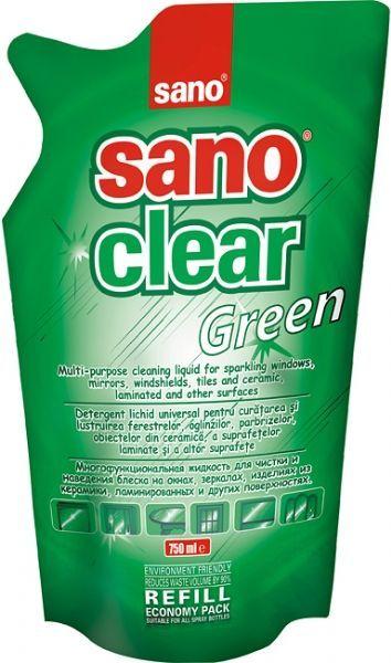 Detergenti Geamuri Sano Clear Green - Rezerva Economica 750 Ml 2021 sanito.ro