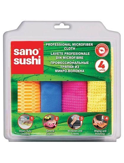 Set 4 Lavete Profesionale Din Microfibre Sano Sushi 2021 sanito.ro